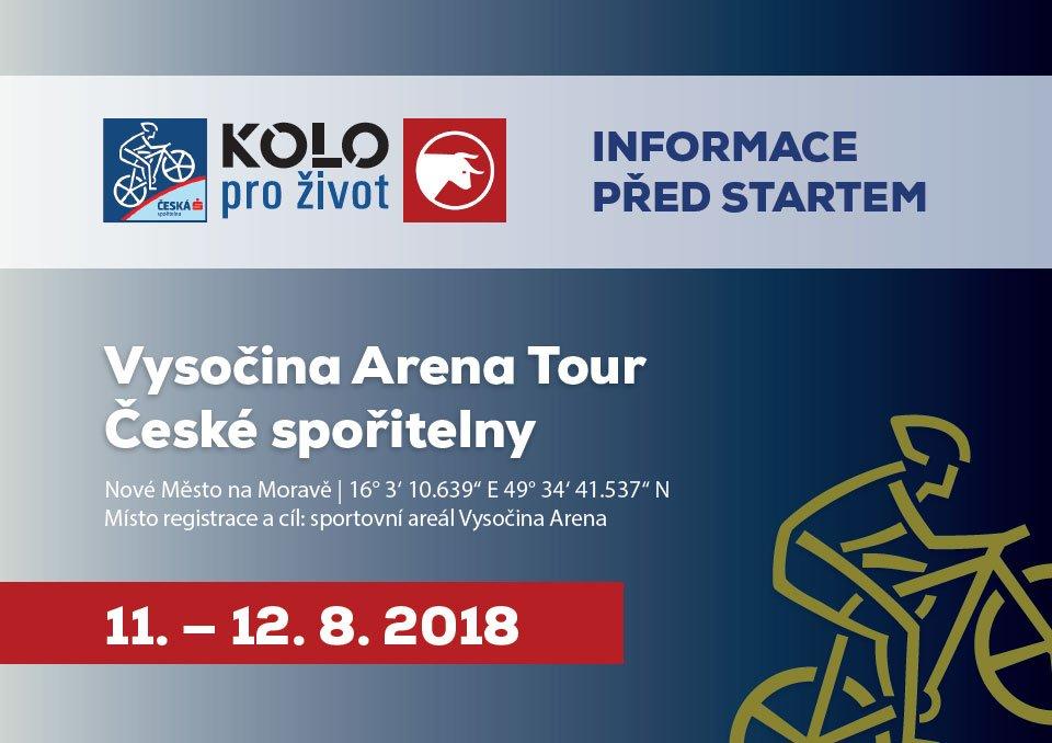 Aktuality před závodem Vysočina Arena Tour České spořitelny 2018