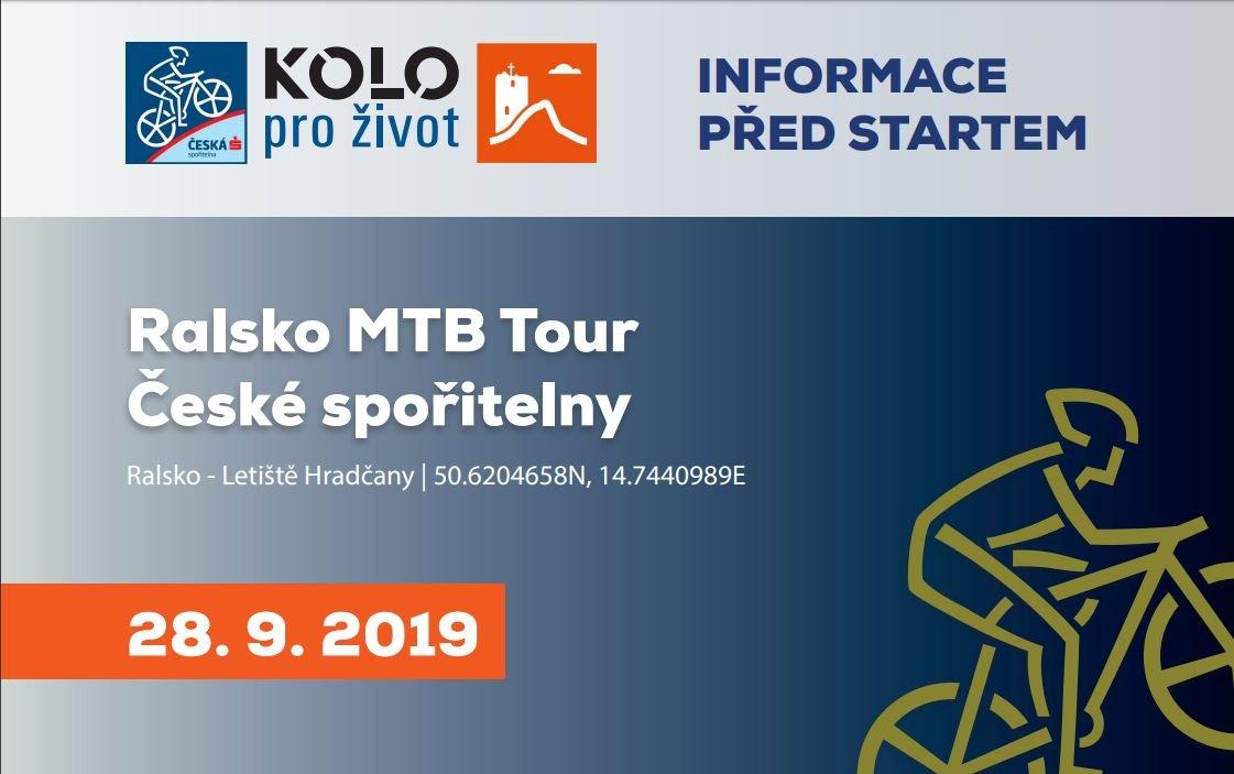 Aktuality před závodem Ralsko MTB Tour České spořitelny 2019